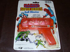 Vintage Marvel Super Heroes Ball Blaster Captain America SpiderMan Rare MOC 1988