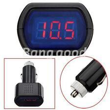 Digital LED Auto Car Cigarette Lighter Volt Voltage Gauge Meter Monitor 12V/24V