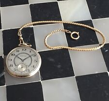 1925 Hamilton 916 Grade 17 Jewels Gold Filled Pocket Watch 12s