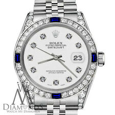 Rolex 36mm Datejust White Color Dial with Sapphire & Diamond Watch