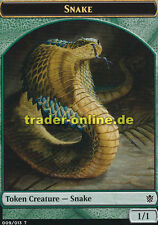 2x Token - Snake (Spielstein - Ophis) Khans of Tarkir Magic
