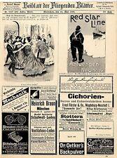 Red Star Line Antwerpen- New York Braun & Schneider Wilhelm Busch Kunterbunt1899