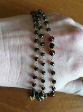 Black Spinel And Garnet Bracelet