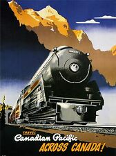 TRAVEL CANADIAN PACIFIC ACROSS CANADA! CANADA 1947 POSTER ART PRINT BB2835A