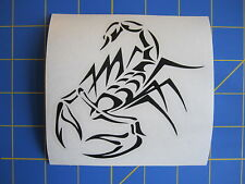 Tribal Scorpion Vinyl Decal - Sticker 4x4 - Any Color