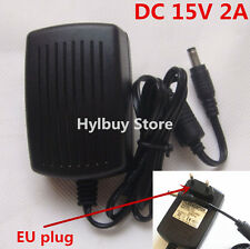 DC15V 2A Adapter AC 220v 230v to DC 15v converter Power Supply Charger 5.5mm EU
