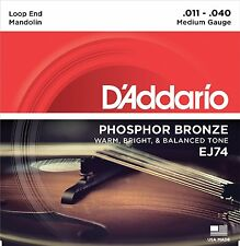 D'Addario EJ74 Mandolin Strings Phosphor Bronze Medium 11-40 J74