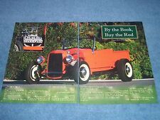 """1927 Ford Roadster Traditional Hot Rod Pickup Article """"By the Book, Buy the Rod"""""""