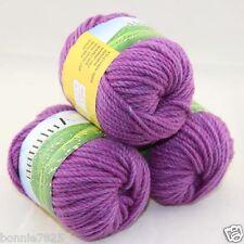 Sale New 3 ballsx50g Hand Knitting Worsted Quick Yarn Soft Wool Silk Velvet 222