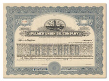 Palmer Union Oil Company Stock Certificate (California)