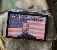 """""""BAYONETS"""" Morale Patch Tactical Military Army Badge Hook Flag Civil War Musket"""
