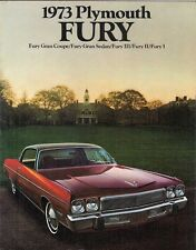 Plymouth Fury 1973 USA Market Sales Brochure I II III Gran Sedan Coupe