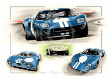 FORD GT40 MK1 DAVID PIPER LE MANS SEBRING 1965 NEW PAINTING PRINT CHRIS DUGAN A+