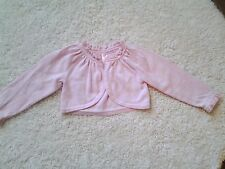 Cherokee Baby Girl Pink Shrug Sweater, Ruffled Neckline & Cuffs    18  months
