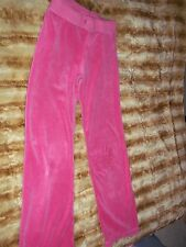 Juicy Couture Pink velvet feel pants Youth Girls   track pants Sz 10