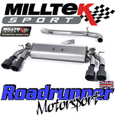 "Milltek Audi S3 8v 3-Door Exhaust 3"" Cat Back Non Resonated Black GT100 SSXAU392"