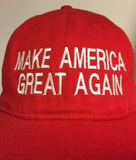 MAKE AMERICA GREAT AGAIN - RED Hat Cap Velcro Adjustable  Embroidery- Trump 2016