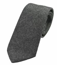Genuine Slate Grey Wool Tweed Tie - Made in the UK (U120/11)