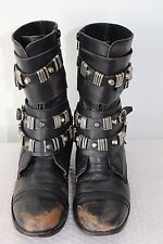 CARVELA GOTHIC / STEAMPUNK DISTRESSED LEATHER BOOTS SIZE 41