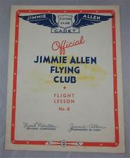 JIMMIE ALLEN FLYING CLUB FLIGHT LESSON #4 VINTAGE 1934 PAMPHLET