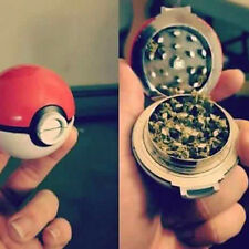 New 55mm 3 Pieces Zinc Alloy Pokeball Pokemon Go Tobacco Spice Herb Grinder Gift