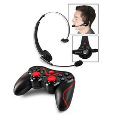 New For Sony PS3 Playstation 3 Wireless Bluetooth Gaming Headset + Controller