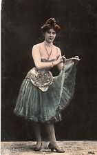 BE290 Carte Photo vintage card RPPC Femme woman danse robe costume ballet