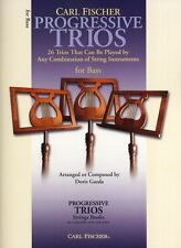Progressive Trios Combination Of String Learn to Play Double Bass Music Book
