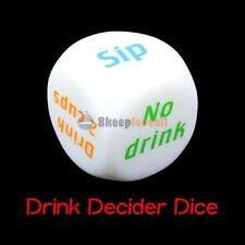 Funny Drink Drinking Sip Dice Roll Decider Die Game Xmas Party Bar Pub Gift Toy