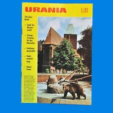 Urania 1-1987 DDR 750 años berlín Kwo cable obras charite Ardenne renovar a