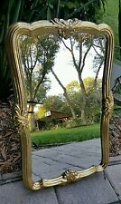 Vintage HOMCO TRADITIONAL RECTANGLE PIANO MANTLE GOLD FRAME WALL MIRROR