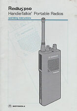 Instruction Manual Motorola Radius p50 Handie-Talkie Portable Radios