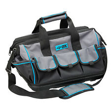 OX TOOLS PRO DOUBLE OPEN MOUTH TOOL BAG - WATERPROOF BASE MOULDED TO FABRIC