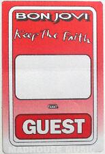 BON JOVI Keep The Faith UK GUEST TOUR PASS rare