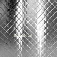 Chrome Quilted Diamond Stainless Steel Sheet, 4' x 10'