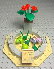 Lego New Friends Garden Turtle Pond With Red Roses And Three Leaves Green Plant