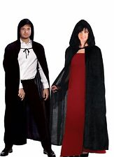 HALLOWEEN ADULT VELVET HOODED SUPERHERO FANCY DRESS COSTUME CAPE COPSPLAY CLOAK