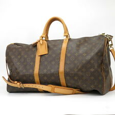 Authentic Louis Vuitton Monogram Keepall 55 Bandouliere M41414 Boston Travel Bag