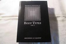 Gorissen, Götz (Hg.) Body Types  vol 1 , Buchdruck 1980