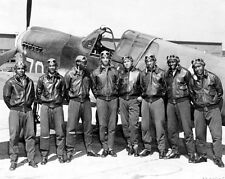 1943 TUSKEGEE AIRMEN PILOTS Crew Glossy 8x10 Photo WWII Poster World War II