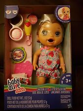 Baby Alive Snackin' Lily (Brunette) Baby Doll - New in hand 2017 release