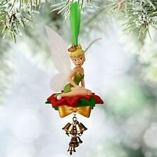 NEW Disney Store TINKER BELL Christmas Ornament 2015 Light up Wings