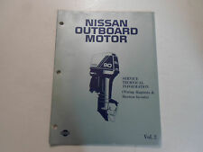 1988 Nissan Outboard Motor Service Tech Info WD Manual WATER DAMAGED VOLUME 2