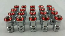 Locking wheel nuts stainless steel 12x1.25 red tgr nissan subaru