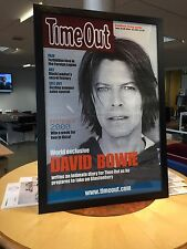 FRAMED DAVID BOWIE GENUINE 2000 TIME OUT MAGAZINE PROMOTIONAL POSTER