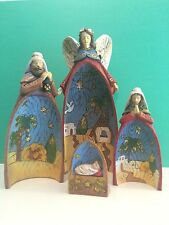 Nativity Set, Nativity Scene, Holy Family Ceramic