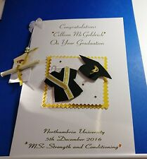 Large Handmade Personalised Graduation Card Son/Daughter/Niece etc & real scroll