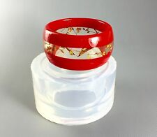 CLEAR SILICONE MOLD (MB106), XS WRIST SIZE BANGLE. CREATE YOUR OWN RESIN JEWELRY