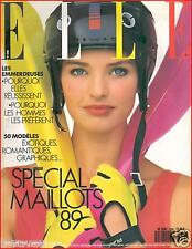 ▬►Elle 2256 de 1989 RACHEL HUNTER_MEL GIBSON_MODE FASHION