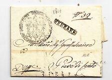 V786-STATO PONTIFICIO-PREF.FERRARA X PIEVE DI CENTO 1817